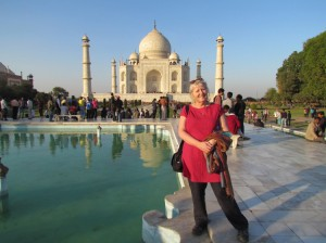 Photo of Pam at the Taj Mahal